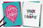 5x7 Folded Greeting Cards, Uncoated