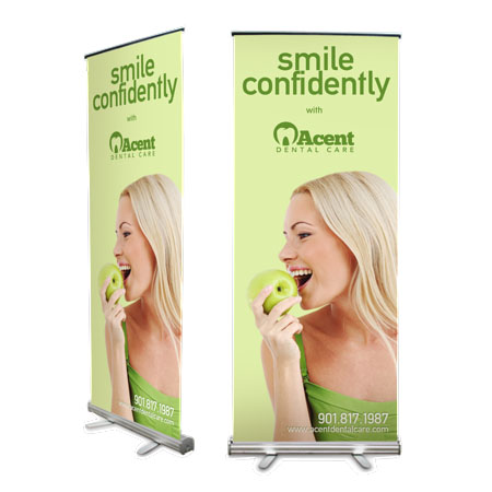 31.5x78.5 in. Retractable Full-Color Banner