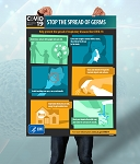 Discounted CDC Posters for Coronavirus Info - 12x18 No Bleed